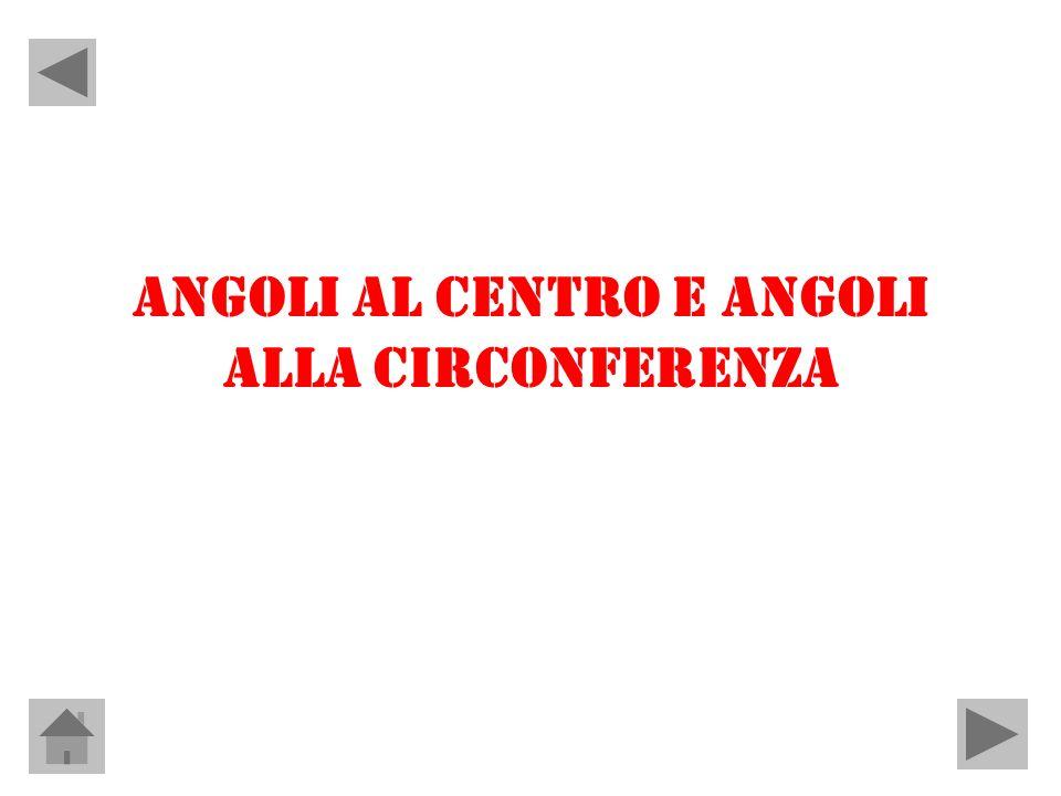 ANGOLI AL CENTRO E ANGOLI ALLA CIRCONFERENZA