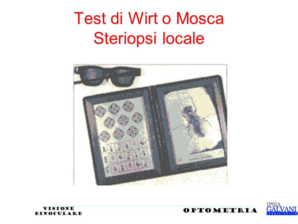 Test di Wirt o Mosca Steriopsi locale opTOMETRIA VISIONE BINOCULARE