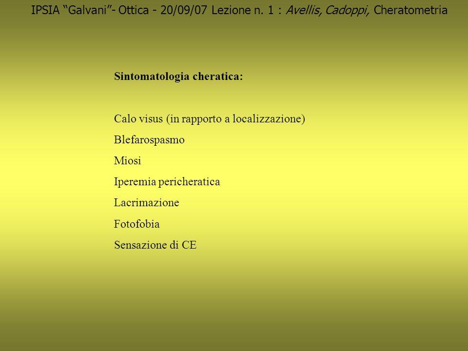 IPSIA Galvani- Ottica - 04/10/07 Lezione n.