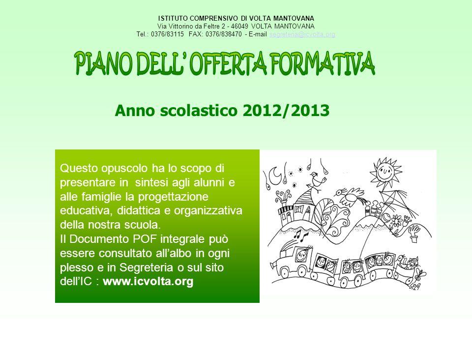 ISTITUTO COMPRENSIVO DI VOLTA MANTOVANA Via Vittorino da Feltre 2 - 46049 VOLTA MANTOVANA Tel.: 0376/83115 FAX: 0376/838470 - E-mail segreteria@icvolt
