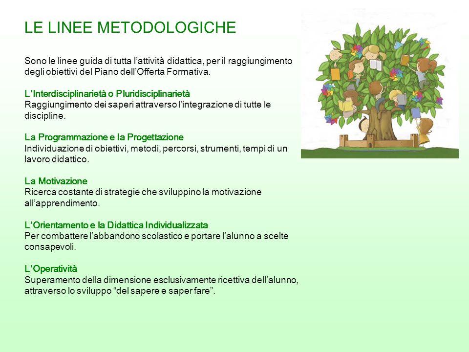 LE LINEE METODOLOGICHE Sono le linee guida di tutta lattività didattica, per il raggiungimento degli obiettivi del Piano dellOfferta Formativa. LInter