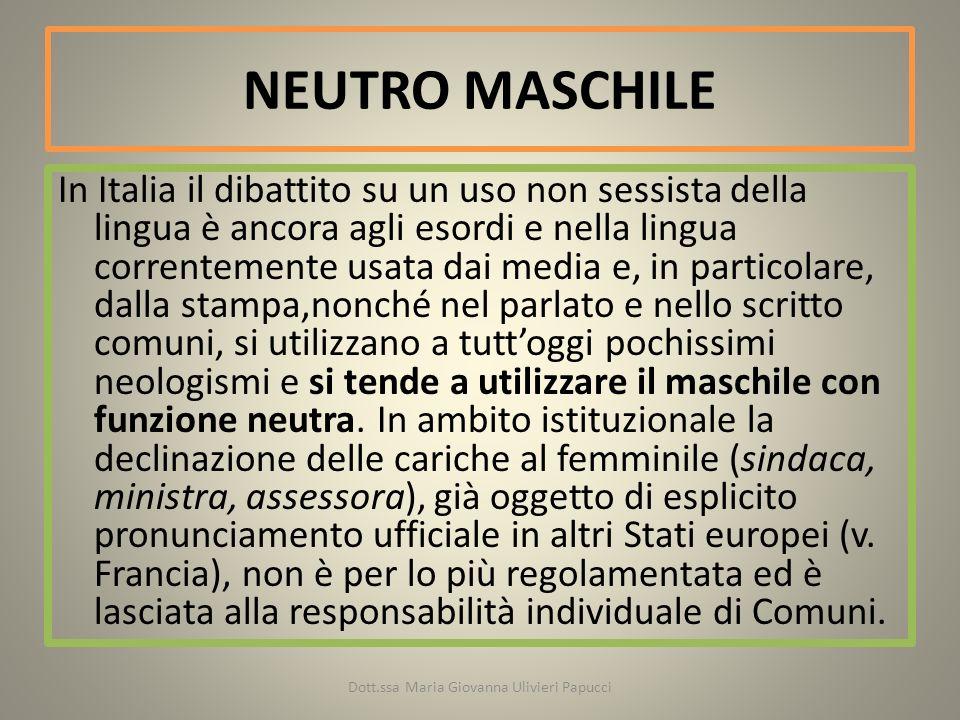 Alma Sabatini Raccomandazioni per un uso non sessista della lingua italiana, 1987 (sindaca, ministra, assessora), La Commissione Nazionale per le pari opportunità accolse con interesse tali raccomandazioni.