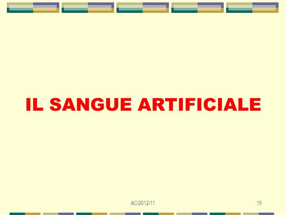 AC/2012/1119 IL SANGUE ARTIFICIALE