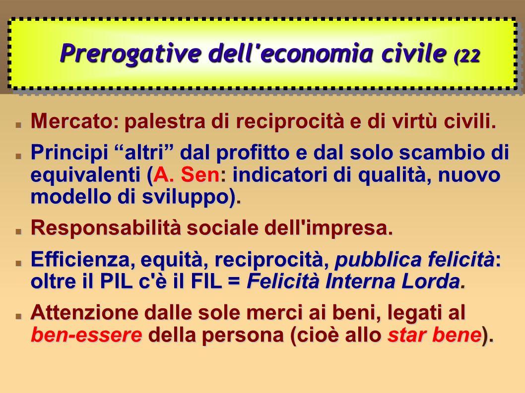 Mercato: palestra di reciprocità e di virtù civili.