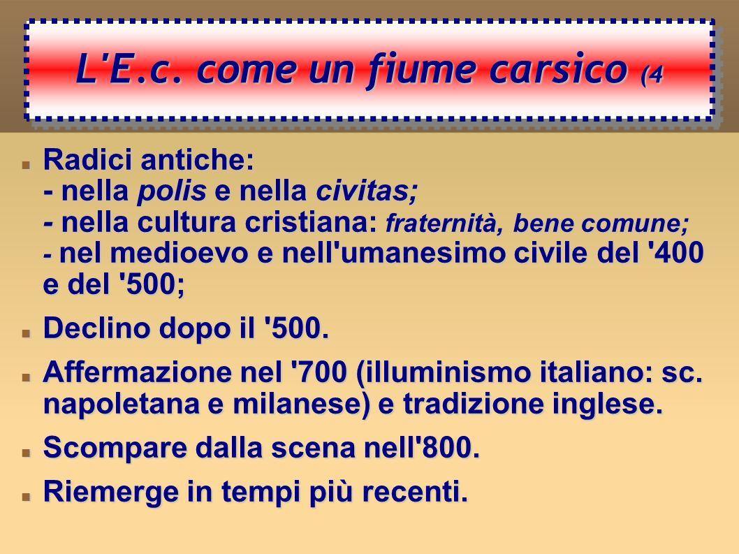 Le radici dell Economia civile (5 Le radici dell Economia civile (5 Nella polis greca, nella civitas romana.