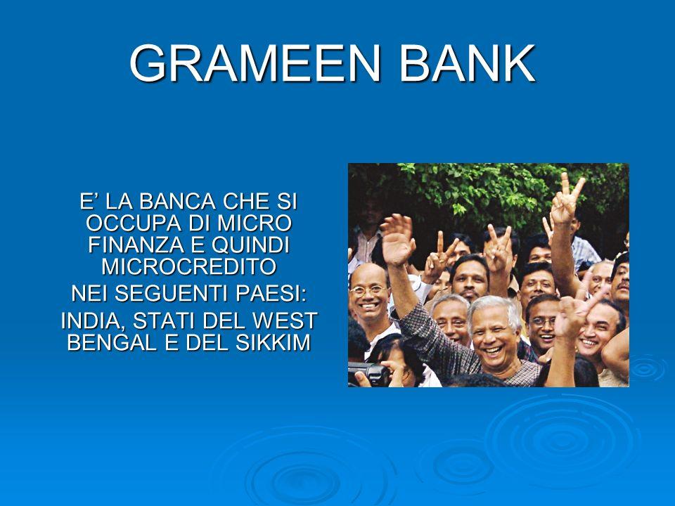 Fondata da Muhammad Yunus nel 1976, è stata la prima banca dei poveri.