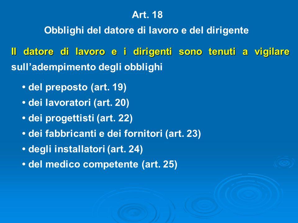 OBBLIGHI DEL DATORE DI LAVORO NON DELEGABILI (art. 17) 1) la valutazione di tutti i rischi con la conseguente elaborazione del documento; 2) la design