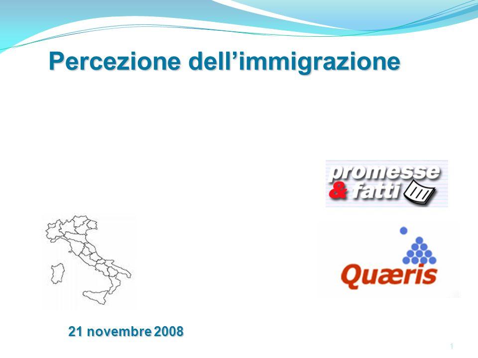 1 1 Percezione dellimmigrazione 21 novembre 2008
