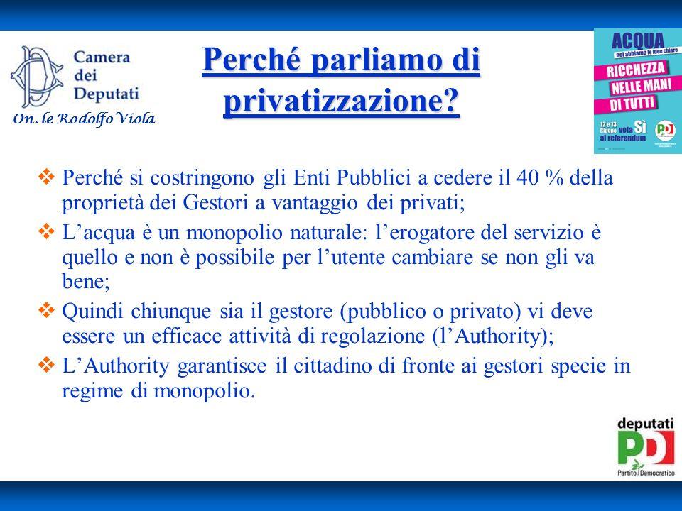 Perché parliamo di privatizzazione.