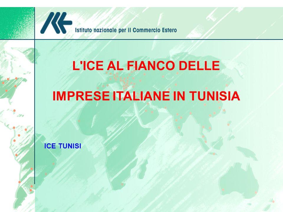 PRINCIPALI INVESTIMENTI ITALIANI DI SUCCESSO IN TUNISIA BENETTON Ha recentemente presentato un ulteriore progetto di investimento nella zona di Monastir riguardante il finissaggio per un valore totale di 22 milioni di euro.