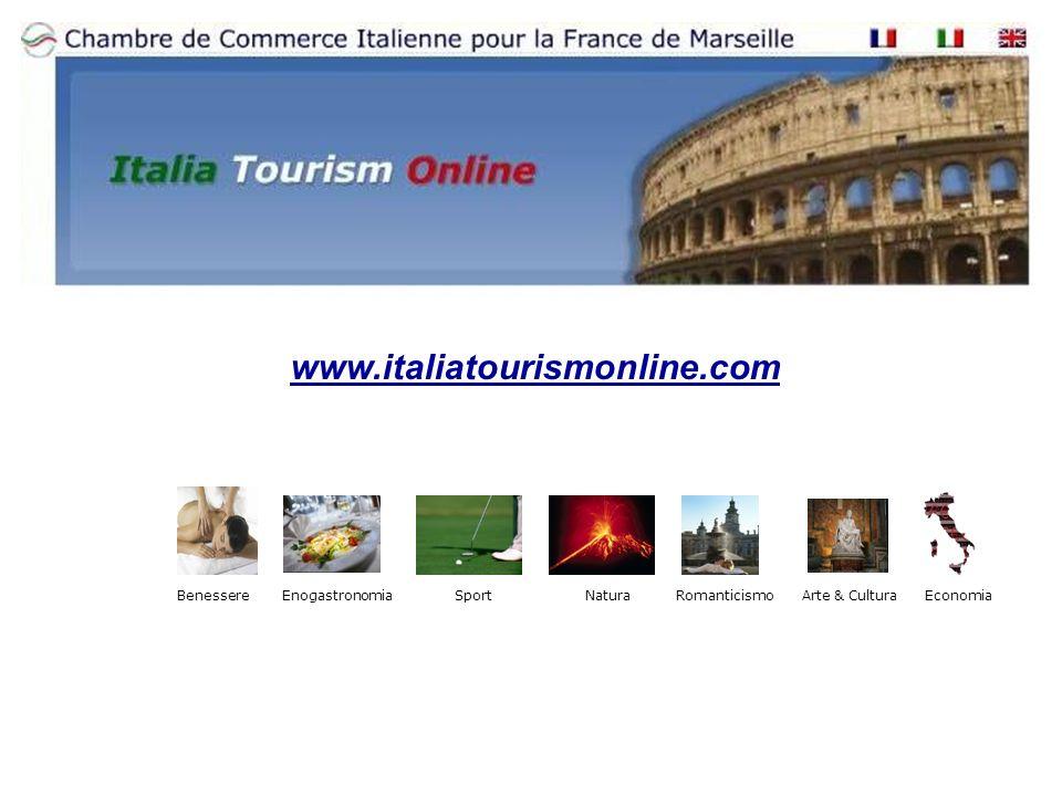www.italiatourismonline.com BenessereArte & CulturaRomanticismoEconomiaNaturaSportEnogastronomia