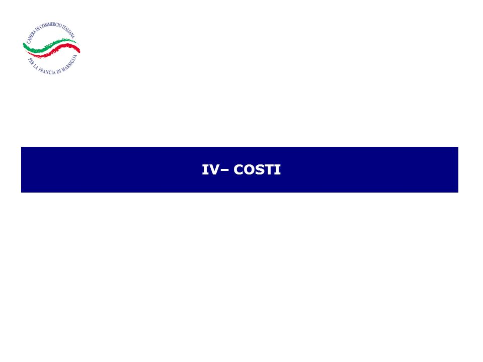 IV– COSTI