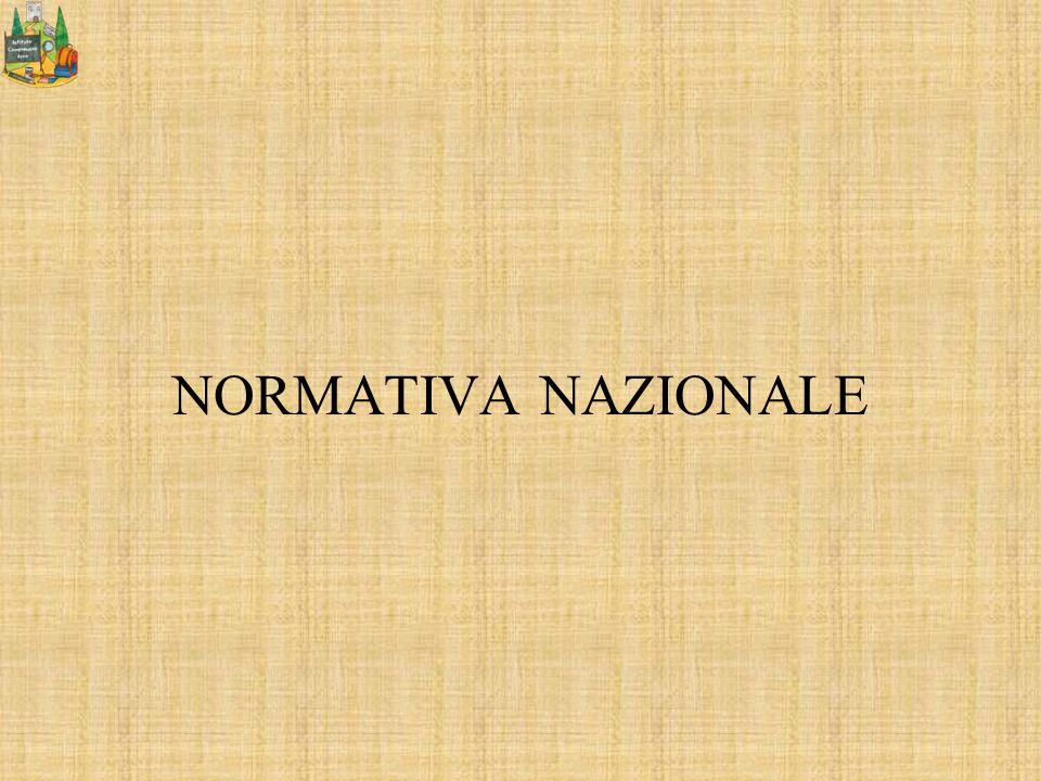 NORMATIVA NAZIONALE
