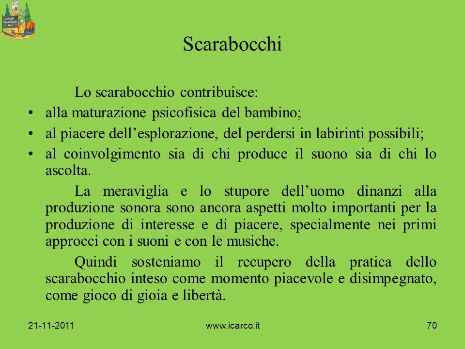 Scarabocchi Lo scarabocchio contribuisce: alla maturazione psicofisica del bambino; al piacere dellesplorazione, del perdersi in labirinti possibili;