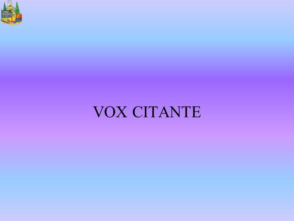 VOX CITANTE