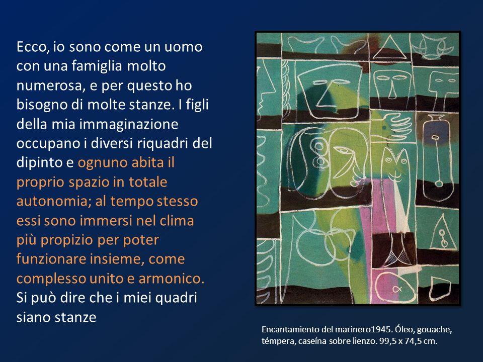 Il Veggente (The Seer) 1950 È il culmine di una serie di pittogrammi e che percepiva come pitture murali arcaiche il cui significato è perso per luomo moderno.