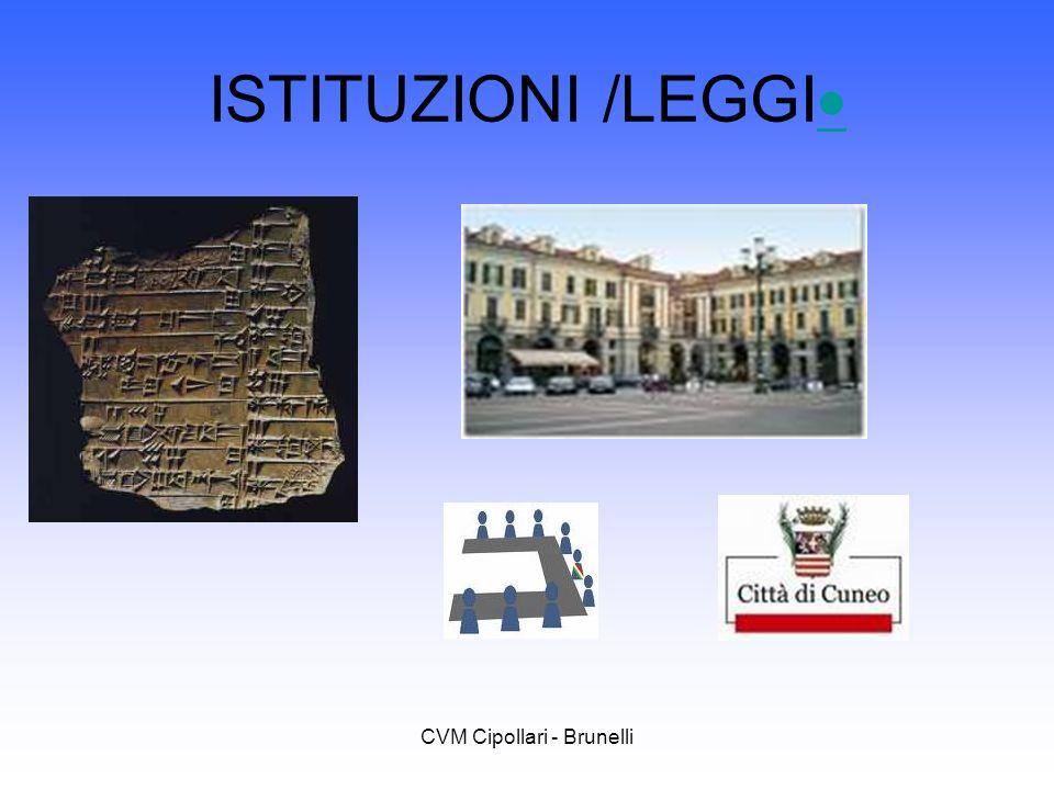 CVM Cipollari - Brunelli ISTITUZIONI /LEGGI