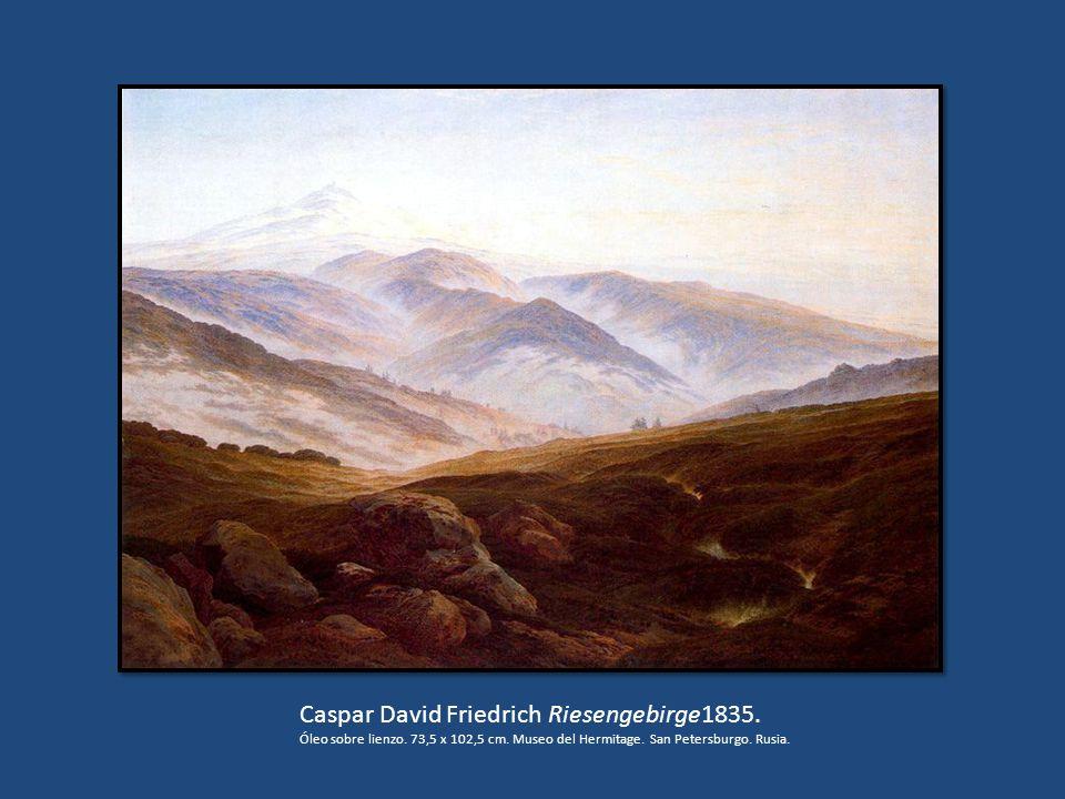 Caspar David Friedrich Riesengebirge1835. Óleo sobre lienzo. 73,5 x 102,5 cm. Museo del Hermitage. San Petersburgo. Rusia.