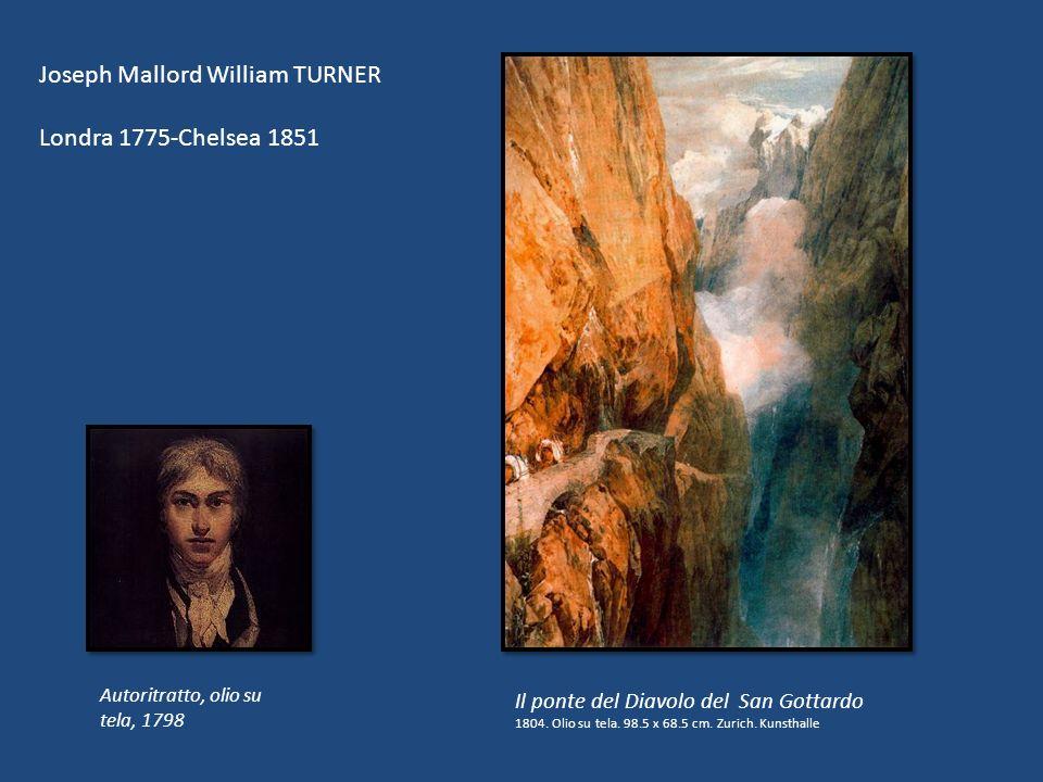 Il ponte del Diavolo del San Gottardo 1804. Olio su tela. 98.5 x 68.5 cm. Zurich. Kunsthalle Joseph Mallord William TURNER Londra 1775-Chelsea 1851 Au