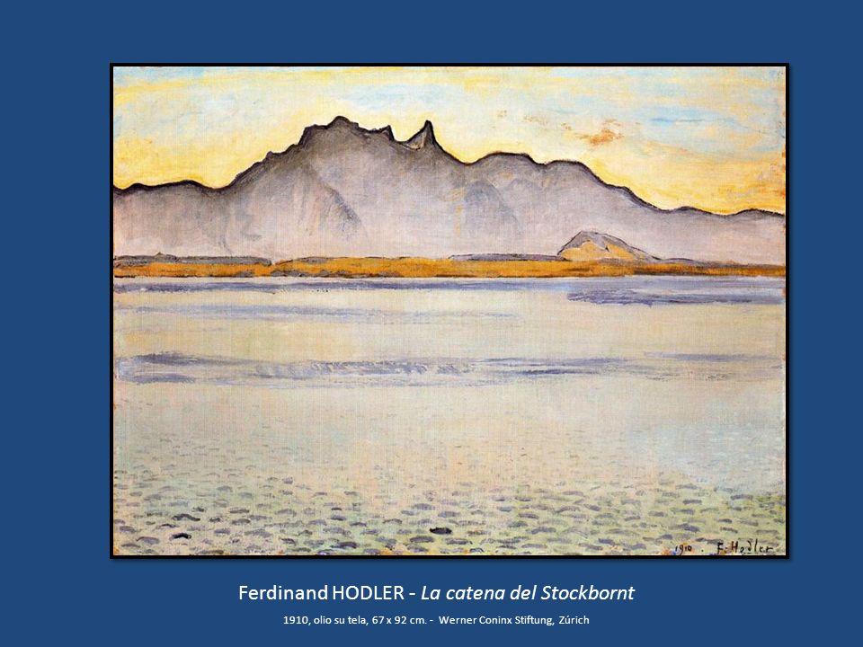Ferdinand HODLER - La catena del Stockbornt 1910, olio su tela, 67 x 92 cm. - Werner Coninx Stiftung, Zúrich