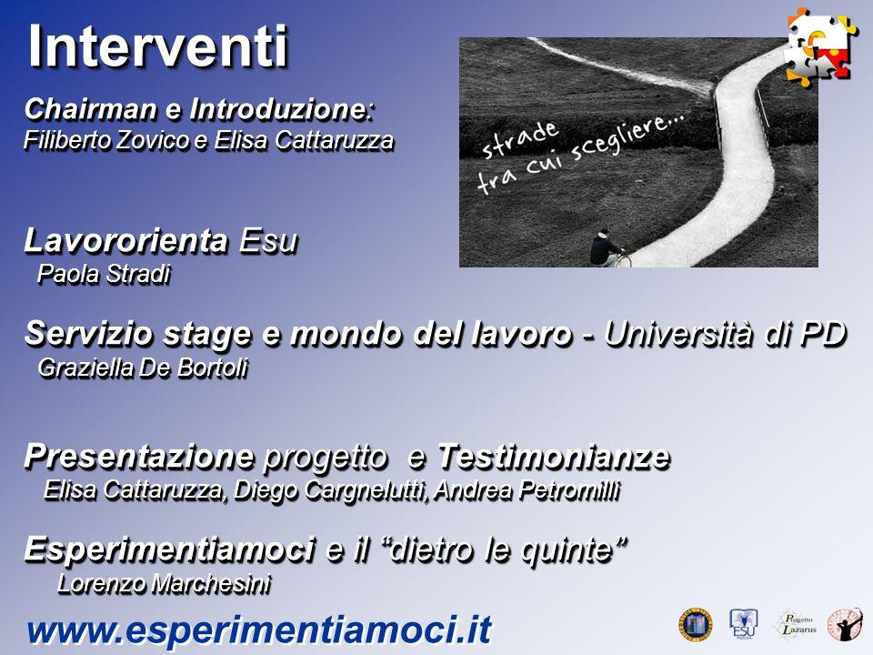 Il progetto www.esperimentiamoci.it