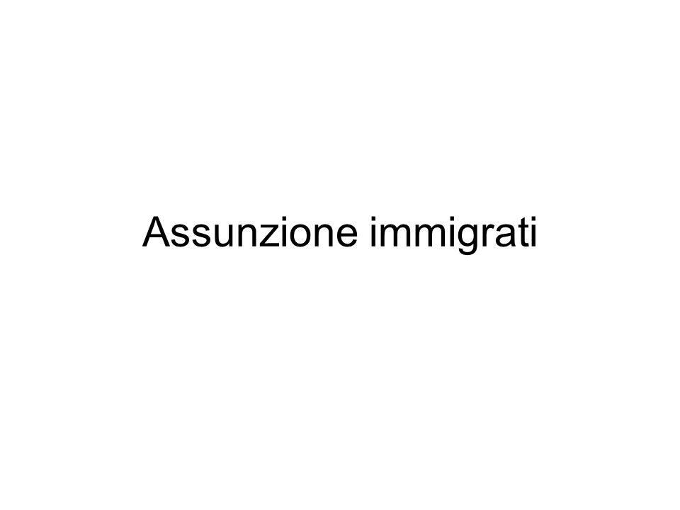 Assunzione immigrati