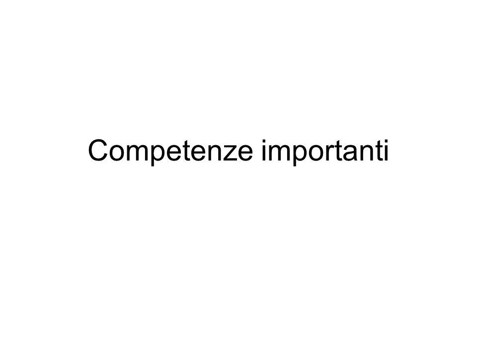 Competenze importanti