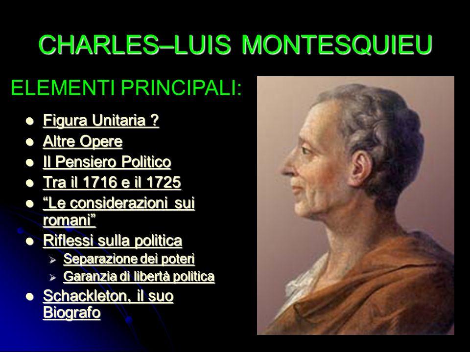 MONTESQUIEU Figura Unitaria .