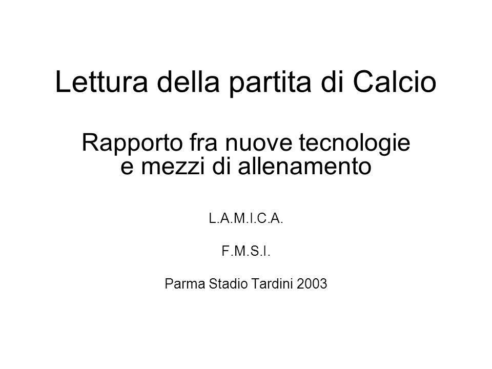 Lettura della partita di Calcio Rapporto fra nuove tecnologie e mezzi di allenamento L.A.M.I.C.A.
