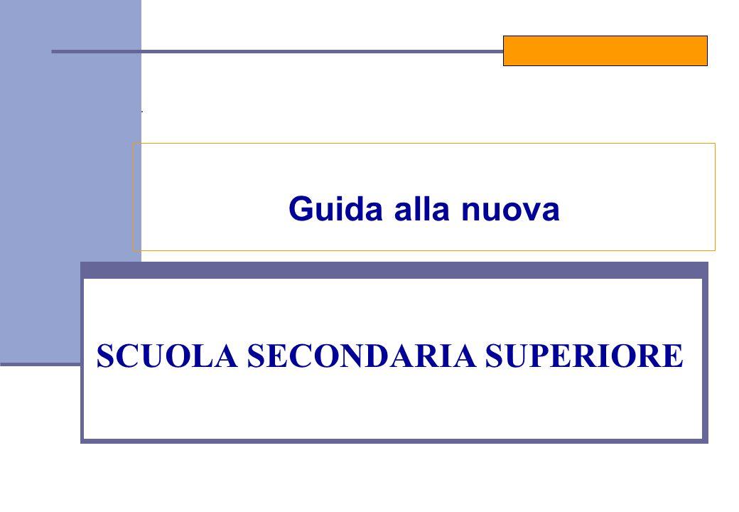 SCUOLA SECONDARIA SUPERIORE Guida alla nuova