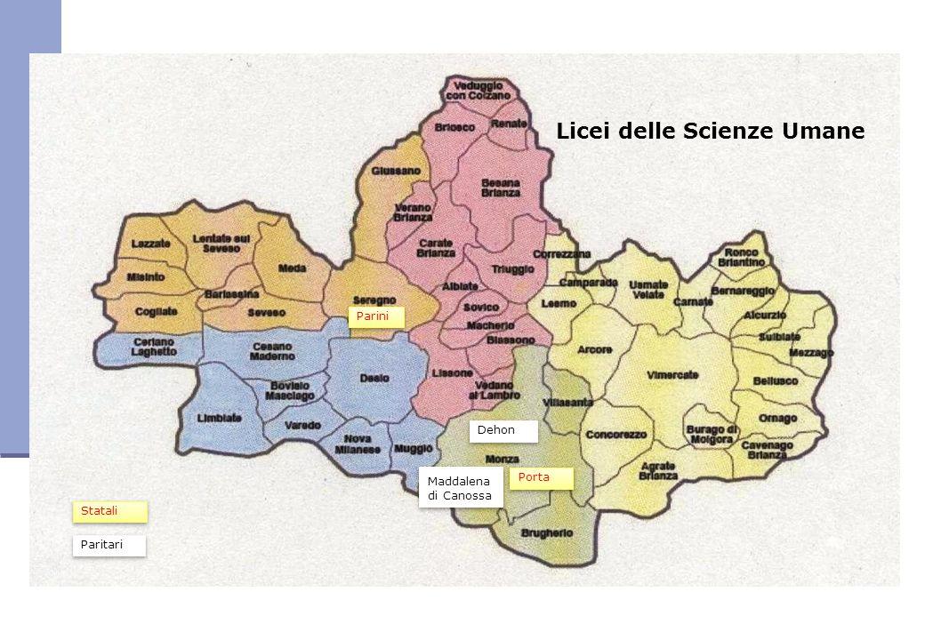 Licei delle Scienze Umane Parini Maddalena di Canossa Maddalena di Canossa Porta Dehon Statali Paritari