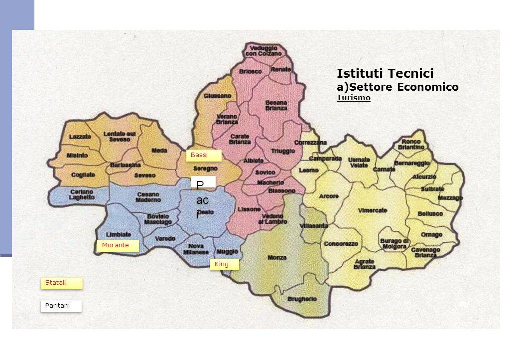 Istituti Tecnici a)Settore Economico Turismo Morante King P ac i Bassi Paritari Statali