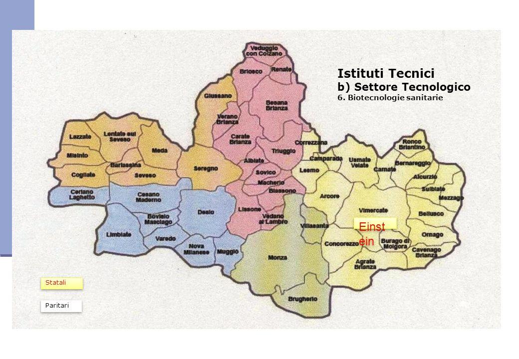Istituti Tecnici b) Settore Tecnologico 6. Biotecnologie sanitarie Einst ein Paritari Statali