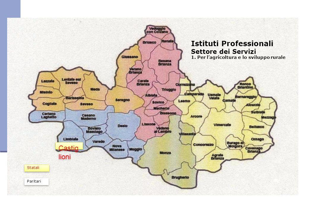 Istituti Professionali Settore dei Servizi 1. Per lagricoltura e lo sviluppo rurale Castig lioni Statali Paritari