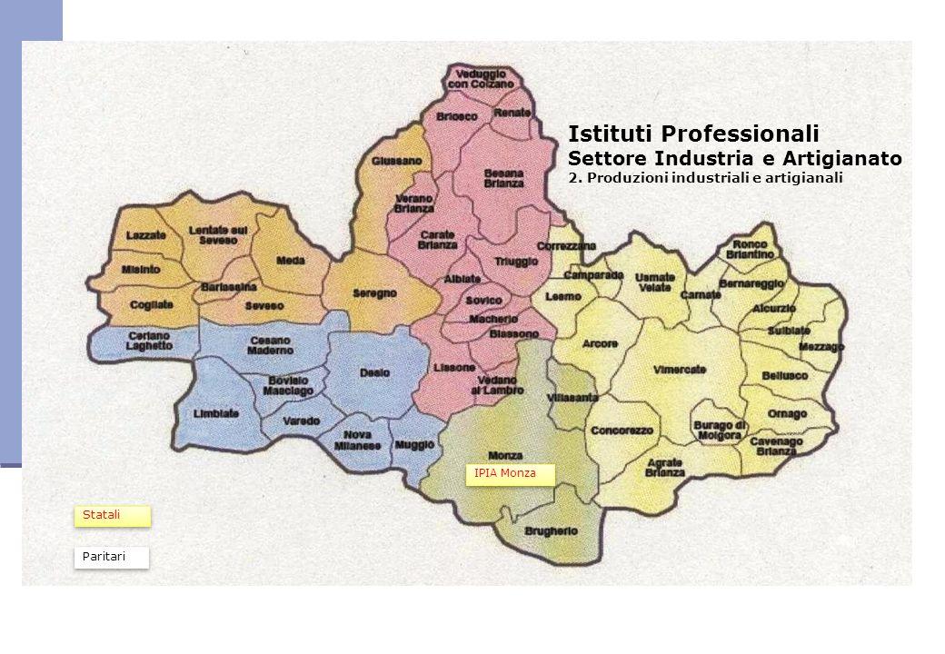 Istituti Professionali Settore Industria e Artigianato 2. Produzioni industriali e artigianali IPIA Monza Statali Paritari