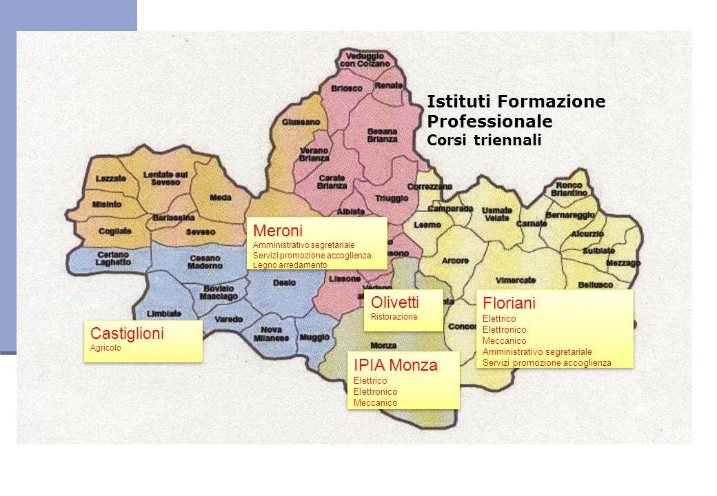 Istituti Formazione Professionale Corsi triennali Meroni Amministrativo segretariale Servizi promozione accoglienza Legno arredamento Meroni Amministr