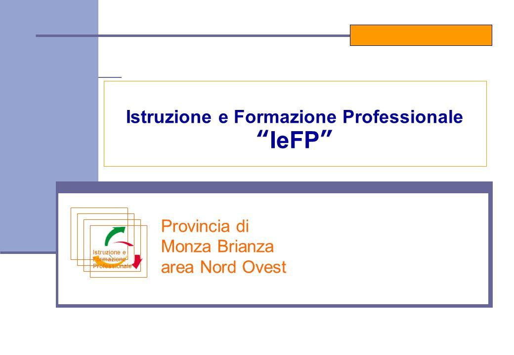 Provincia di Monza Brianza area Nord Ovest Istruzione e Formazione Professionale IeFP Istruzione e Formazione Professionale