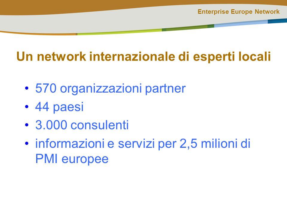 Enterprise Europe Network Step 4: supporto La rete lavora per migliorare le chance delle piccole aziende: Informazioni sulla finanza innovativa Consulenza in materia di IPR e brevetti Consulenza per gare e appalti Informazioni su regole e politiche europee