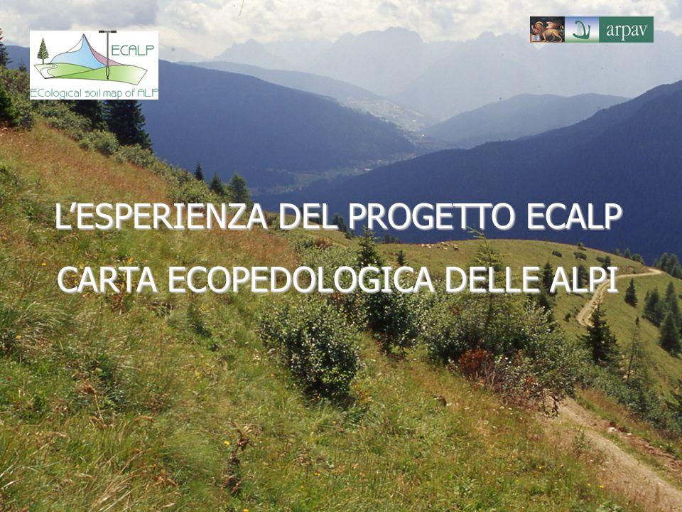 LESPERIENZA DEL PROGETTO ECALP CARTA ECOPEDOLOGICA DELLE ALPI