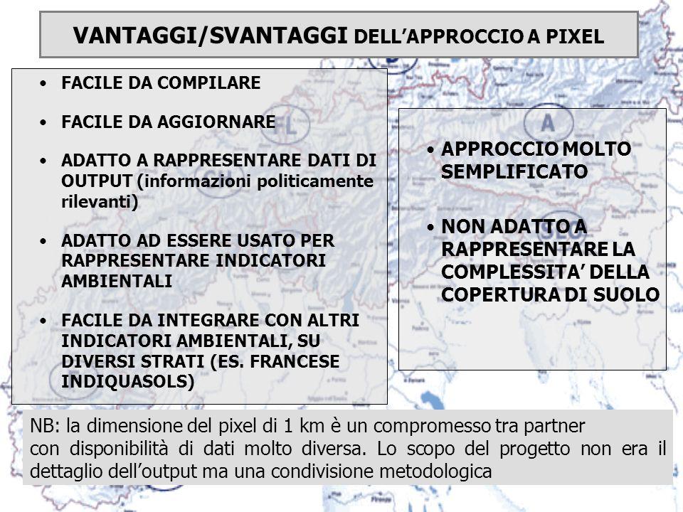 ATTIVITA DEL PROGETTO: Una prima approssimazione di una carta ecopedologica dellintero arco alpino (pixel di 10 km) Sviluppare un formato di scambio da testare in aree pilota (pixel di 1 km)