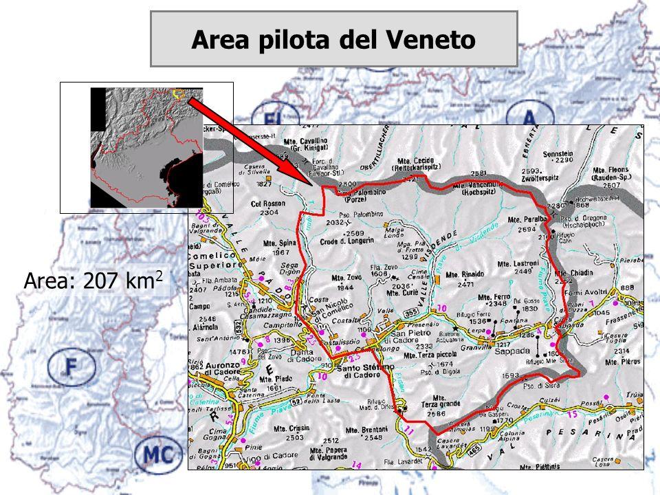 Area: 207 km 2 Area pilota del Veneto