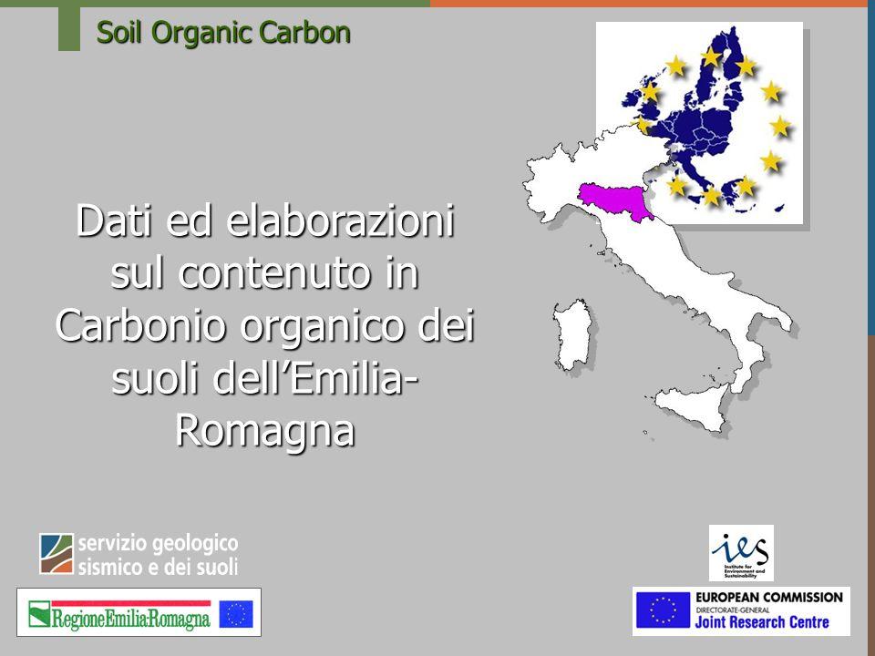 S.O.C Attività Nel 2001 Definizione ed utilizzo di strumenti di analisi ed elaborazione delle dotazioni in materia organica dei suoli in ambienti di pianura dellEmilia-Romagna Nel 2004 Valutazione della capacità di cattura del carbonio per i suoli agricoli dellEmilia Romagna con lapproccio IPCC