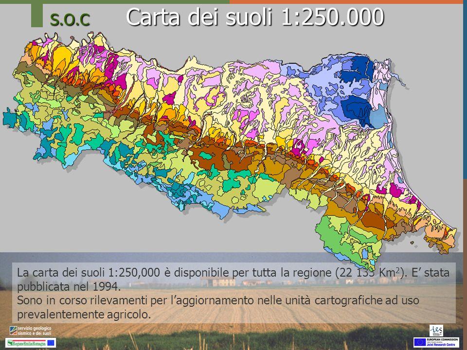 S.O.C Capacità di cattura dei suoli agricoli procedura IPCC - RER Dati sulla riserva di carbonio dei suoli agroforestali (Corg) in ambiente di collina e montagna