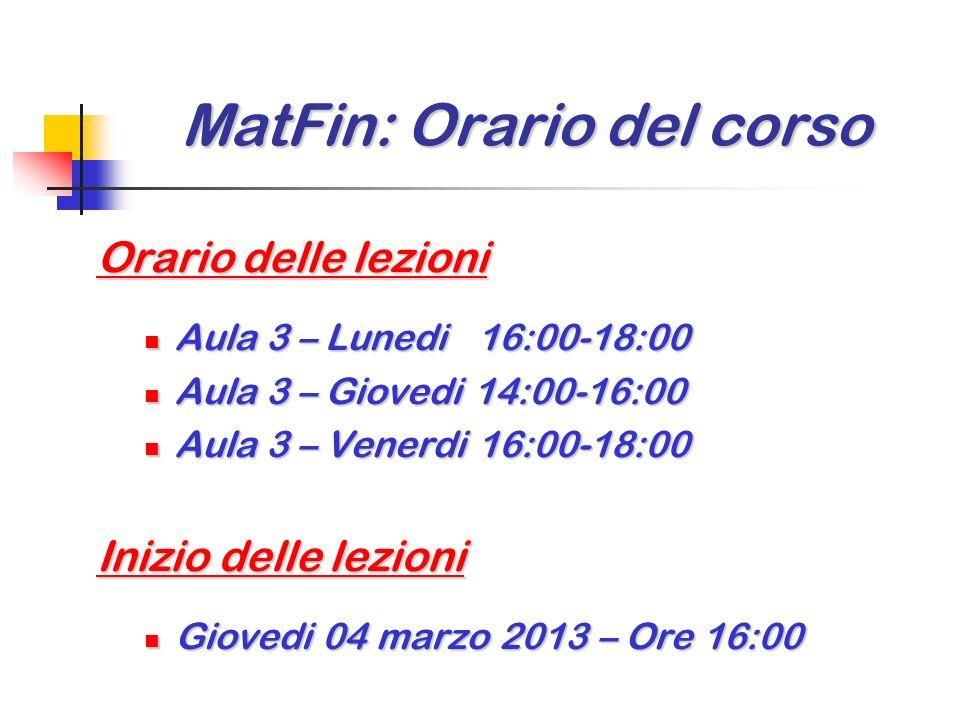 MatFin: Programma MatFin: Programma Argomenti (complementari ) di Finanza Matematica(2/2) Argomenti (complementari ) di Finanza Matematica (2/2) Scelt