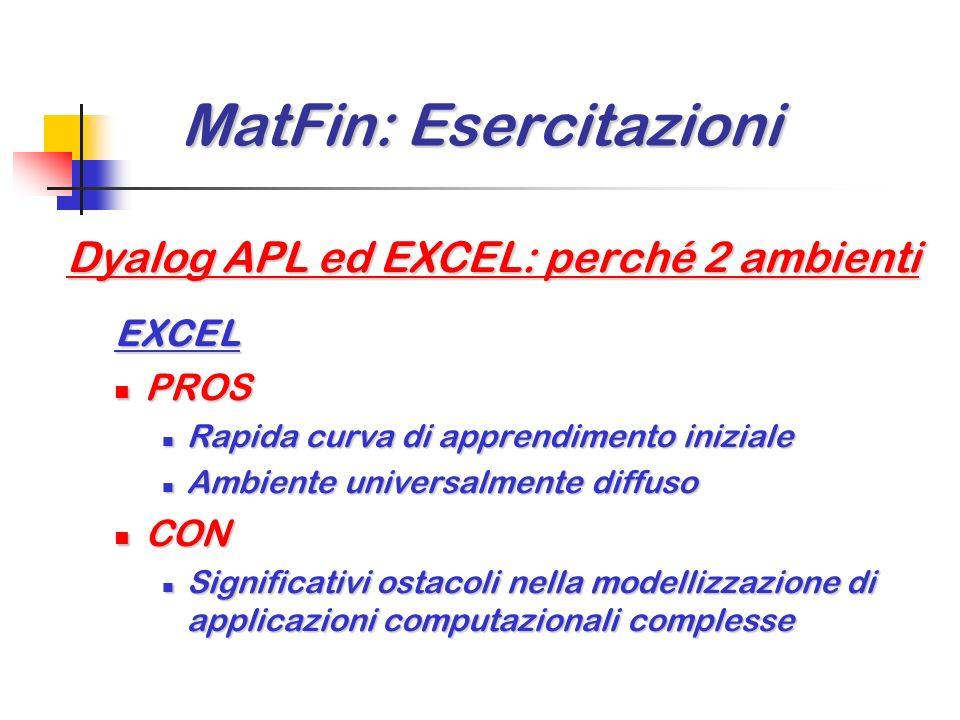 MatFin: Esercitazioni MatFin: Esercitazioni Dyalog APL download: Declarations