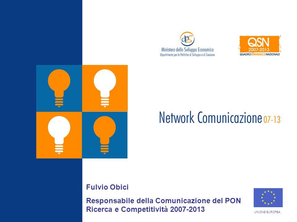 Roma, 19 Marzo 2008 Fulvio Obici Responsabile della Comunicazione del PON Ricerca e Competitività 2007-2013 UNIONE EUROPEA
