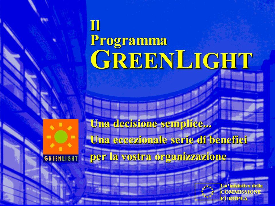 Uniniziativa della COMMISSIONE EUROPEA Il Programma G REEN L IGHT Una decisione semplice... Una eccezionale serie di benefici per la vostra organizzaz