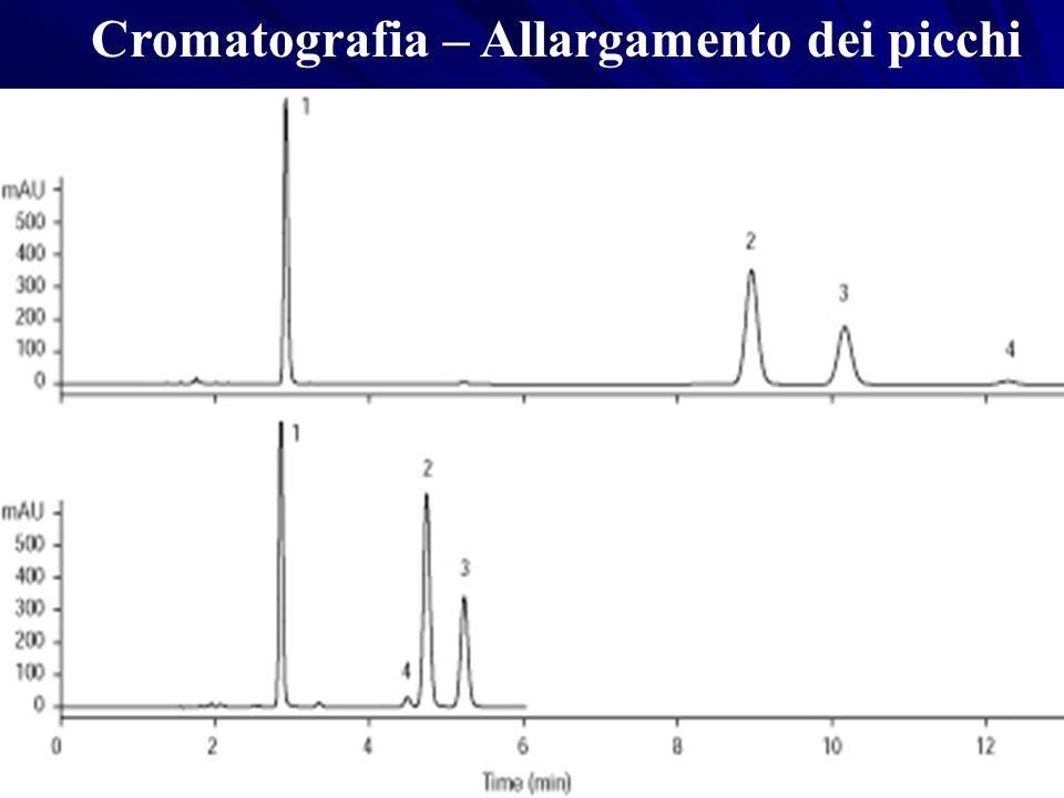 Cromatografia – Allargamento dei picchi