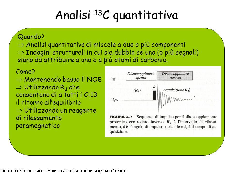Analisi 13 C quantitativa Quando.
