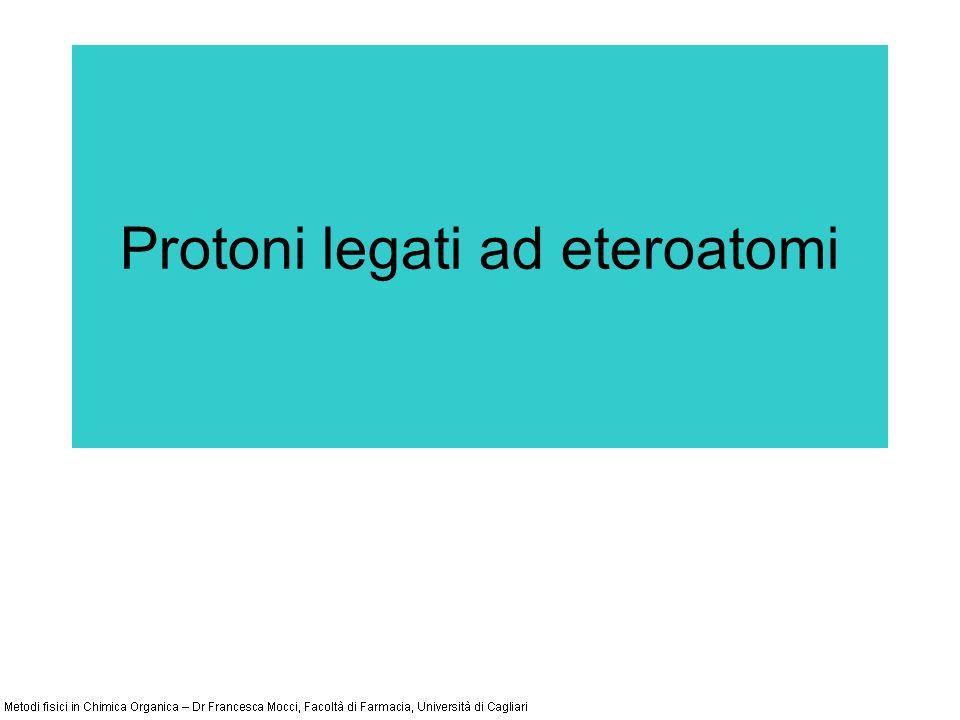 Protoni legati ad eteroatomi
